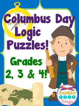 Columbus Day Logic Puzzles Critical Thinking! Grades 2, 3 & 4