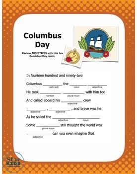 Columbus Day Mad Lib (interactive PDF, printable, and Google Slide)