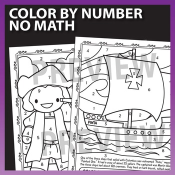 math worksheet : columbus day math worksheets color by number place value by prime  : Columbus Day Math Worksheets