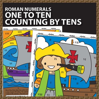 math worksheet : columbus day math worksheets color by number roman numerals by  : Columbus Day Math Worksheets
