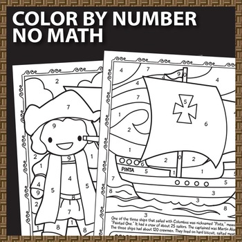 columbus day math worksheets color by number roman numerals by  columbus day math worksheets color by number roman numerals