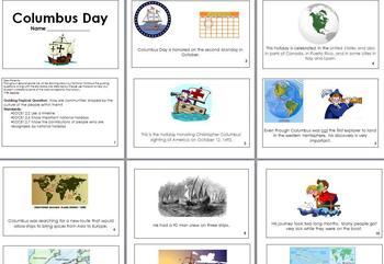 Columbus Day Mini Book