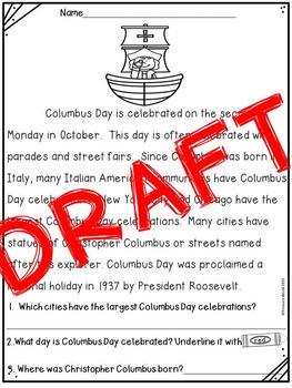 Columbus Day Mini ELA Unit