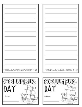 Columbus Day Mini Flip-Book
