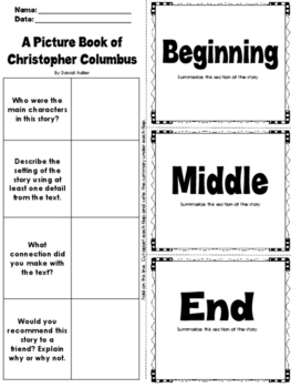 I Know Columbus Day Non-Fiction Printables