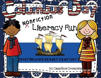 Columbus Day Nonfiction Literacy Printables Grades 3-5