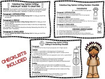 Columbus Day Opinion Writing--Persuasive--Piece Pack--Common Core Aligned