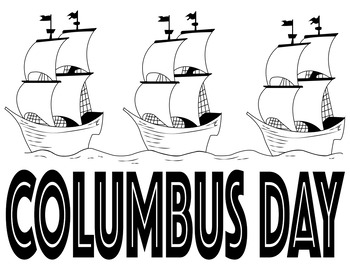 Columbus Day Outlined