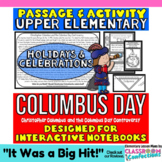 Christopher Columbus Day: Reading Passage: Columbus Interactive Notebook