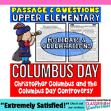 Christopher Columbus Day: Passage and Questions: Reading Comprehension Activity