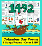 Columbus Day Activities: Poems & Songs for Shared Reading and Fluency