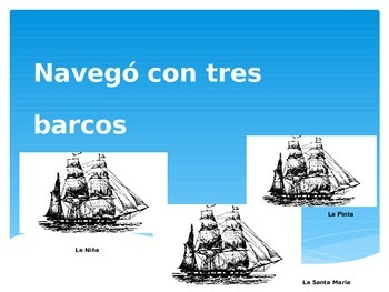 Columbus Day-Emergent Reader-Powerpoint & Activity Package in Spanish