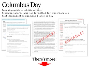Columbus Day Presidential Proclamation Analysis