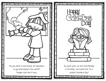 Columbus Day Reader for First Grade and Kindergarten Social Studies