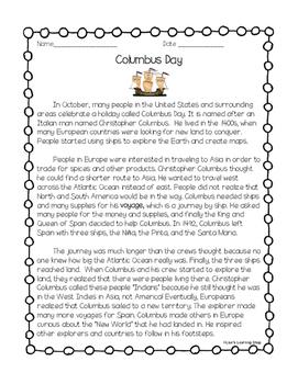 Columbus Day Reading