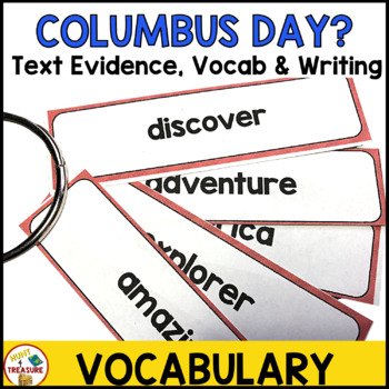 Columbus Day Reading Passage- Finding Text Evidence for Primary