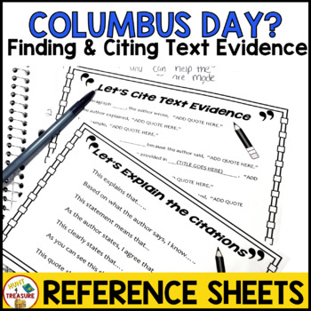 Columbus Day Reading Passage- Finding and Citing Text Evidence