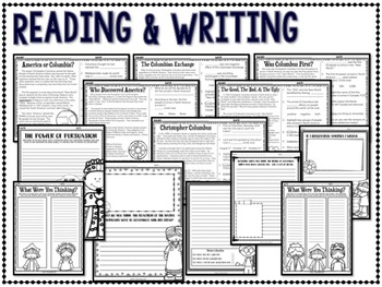 Columbus Day Reading Passages Math and Literacy Activities and More