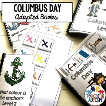 Columbus Day Sentence Building, Adapted Books