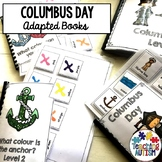 Christopher Columbus Day Adapted Books Sentence Building