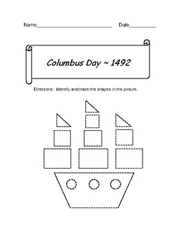 Columbus Day Shape Trace