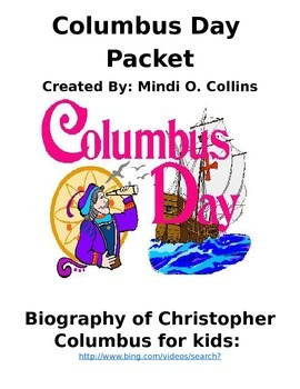 Columbus Day Social Studies' Thematic Packet
