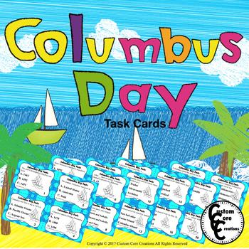Columbus Day Task Cards