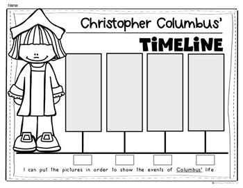 Columbus Day Timeline for {Kindergarten and First Grade} Social Studies