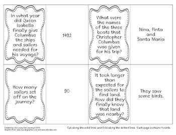 Columbus Day Trading Cards Game!