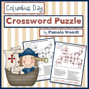 Columbus Day Vocabulary Crossword Puzzle