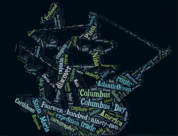 Columbus Day Vocabulary image for Classroom Decoration Poster or Sign
