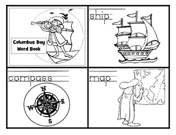 Columbus Day Word Book