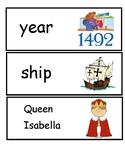 Columbus Day Word Cards