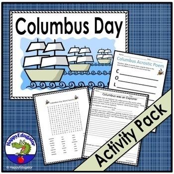 Columbus Day Printable Activities