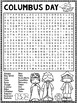 Columbus Day Word Search Activity