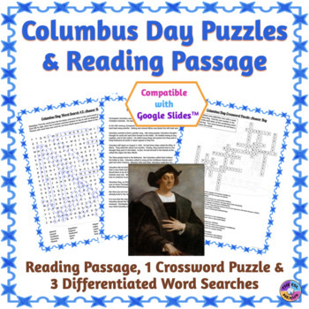 Columbus Day Word Search & Crossword Puzzles: Print & Paperless Versions