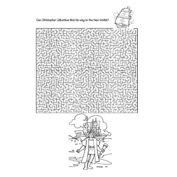 Columbus Day Word Search and Maze