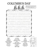 Columbus Day Wordsearch Puzzle Worksheet
