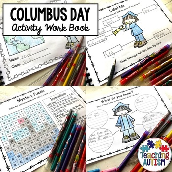 Columbus Day Work Book Activities