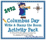Columbus Day Write / Stamp the Room Activity Pack