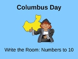 Columbus Day Write the Room: Counting 1-10