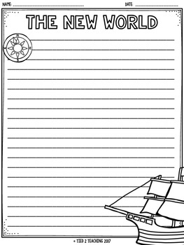 Columbus Day Writing Paper