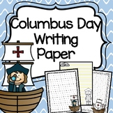 Columbus Day Writing Paper