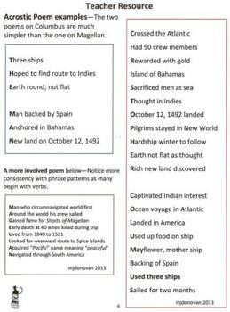 Columbus Day acrostic