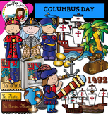 Columbus Day clip art - Color and black/white- 45 items!