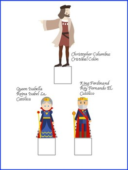 Christopher Columbus Day Craft Activity in English and Spanish.