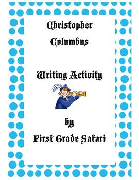 Columbus Day writing activity