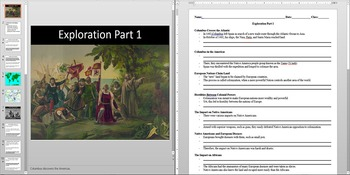 Columbus Discovers America Powerpoint AND Notes Worksheet