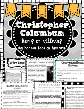 christopher columbus hero or villain teaching resources teachers  christopher columbus hero or villain