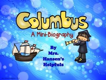 Columbus Mini-Biography and Activities